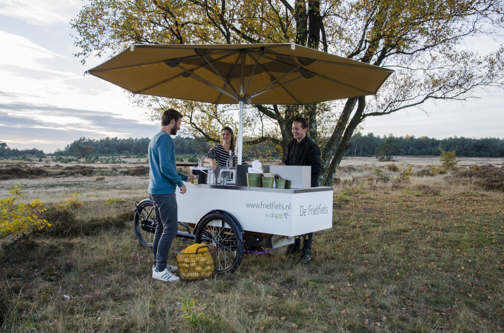 Frietfiets by dapp bio food op de veluwe